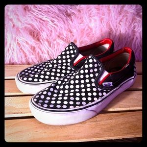 Vans Polka Dot Black White Red Off the Wall